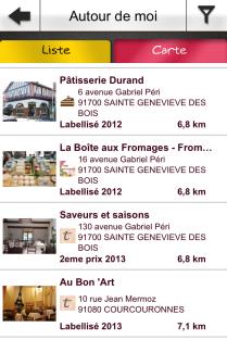 Appli mobile - Les Papilles d'or - Essonne